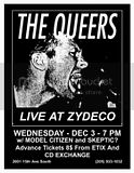The Queers Model Citizen Skeptic at Zydeco - Flier: Barron